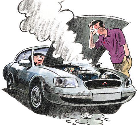 usterki w używanym samochodzie
