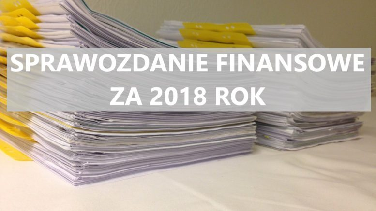 sprawozdanie finansowe za 2018 rok
